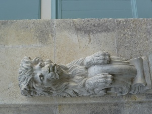 A cast of the lion-figured support from Tudor-era building Nonsuch Palace