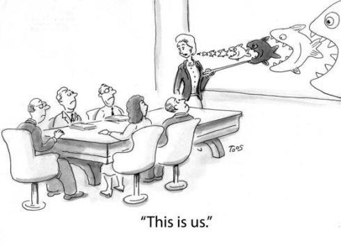 corporate acquisition cartoon