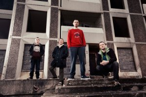 The founder of Ballymun Estate's Workin' Class Records, with his creative young potentials